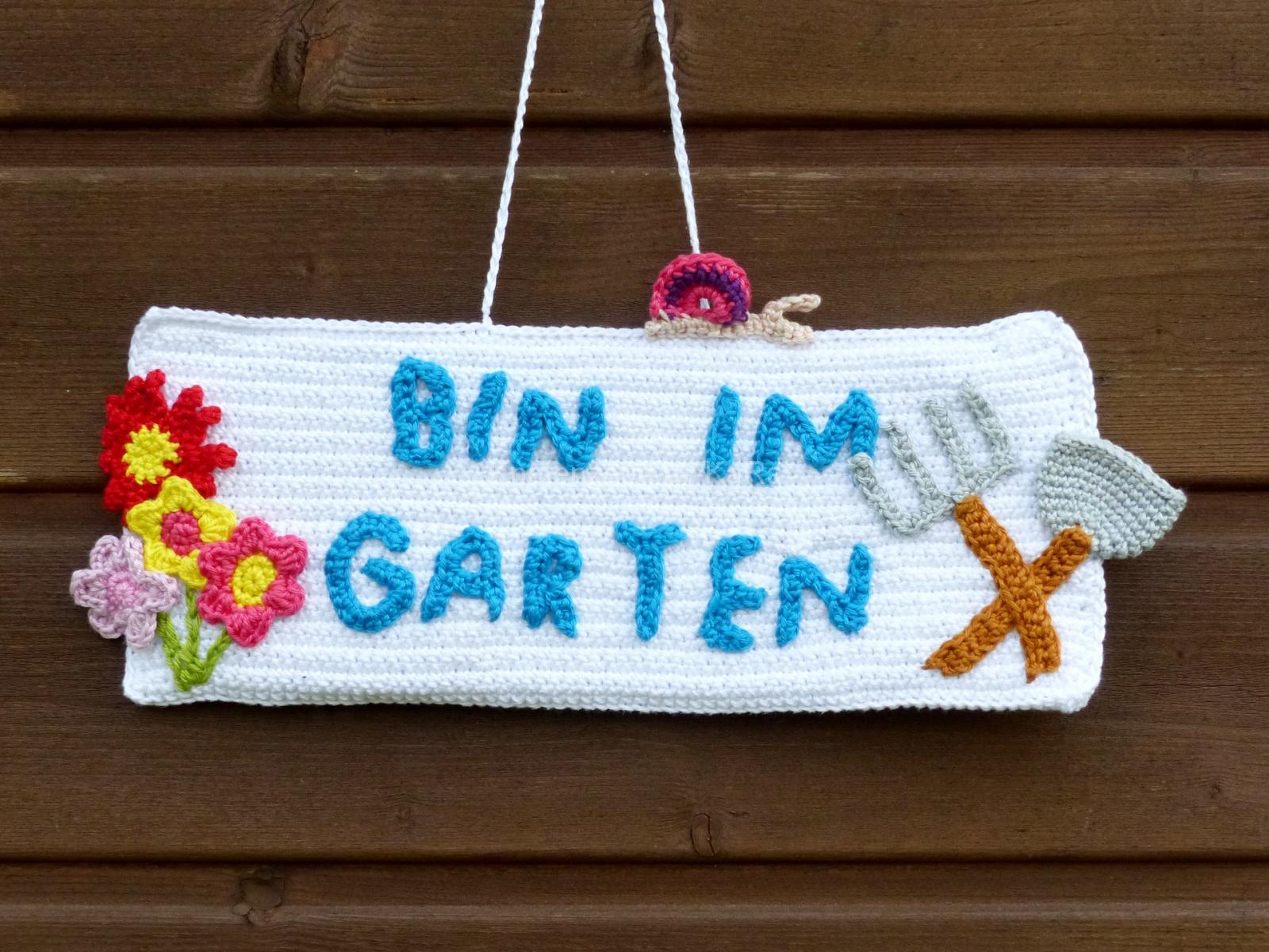 Schild für den Garten